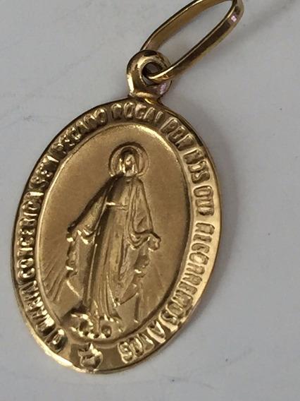 Pingente Santa Em Ouro 18 K-1gr.25mm.
