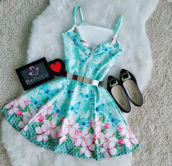Vestido Boneca Rodado Princesa Exclusivos Roupas Femininas