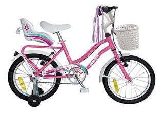 Bicicleta Para Niña Rodado 14 Enrique Stars Canasto Rueditas