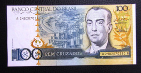 Brasil Billete 100 Cruzados Unc Pick: 211 C 1986