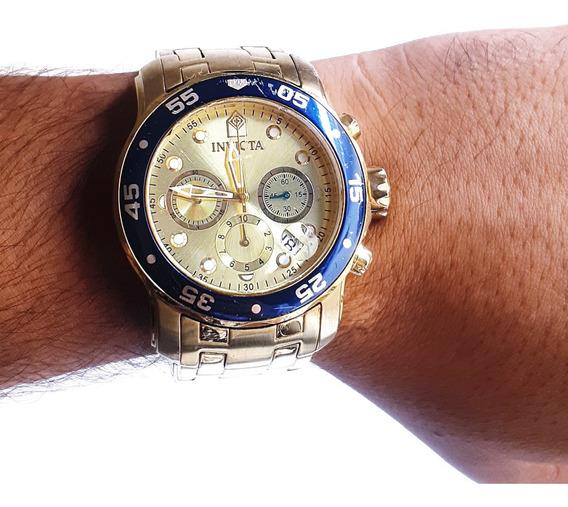 Relogio Invicta 80068 Modelo Pro Diver Banhado A Ouro