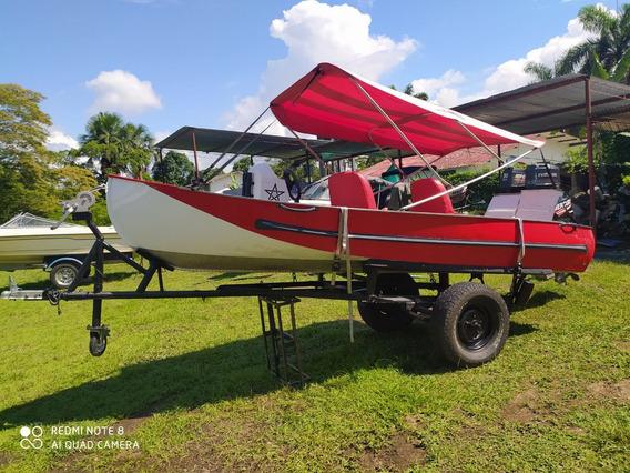 Bote En Aluminio Para Pesca Muy Bien Cuidado