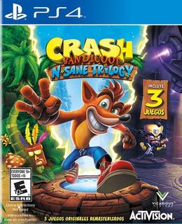 Juego Crash Bandicoot N.sane Trilogy Ps4 Cd Físico Sellado