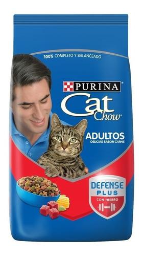Imagen 1 de 2 de Alimento Cat Chow Defense Plus para gato adulto sabor carne en bolsa de 15kg