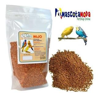 Semillas De Mijo Rojo 500gr Para Aves Canarios Pericos Etc