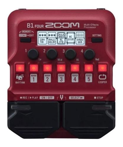 Zoom B1 Four Pedaleira Para Baixo Multi Efeitos