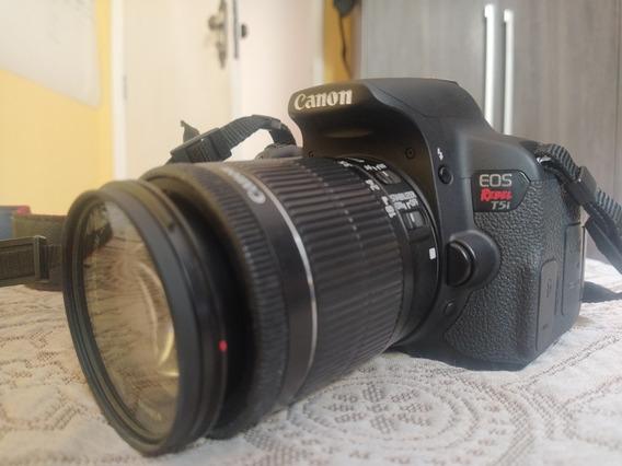 Câmera Canon T5i Com Lente 18 55 Câmera Impecável