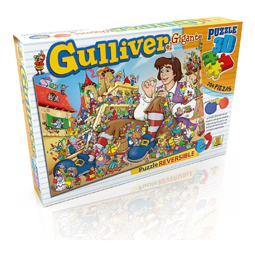 Puzzle 3d 204 Piezas Gulliver El Gigante 234 Educando