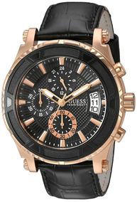 Relógio Couro Preto Guess U0673g5