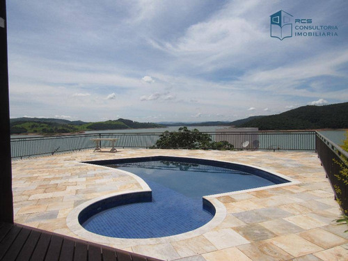 Casa Com Heliponto - 7 Suítes À Venda, 950 M² Por R$ 3.400.000 - Escarpas Do Lago - Capitólio/mg - Ca0356