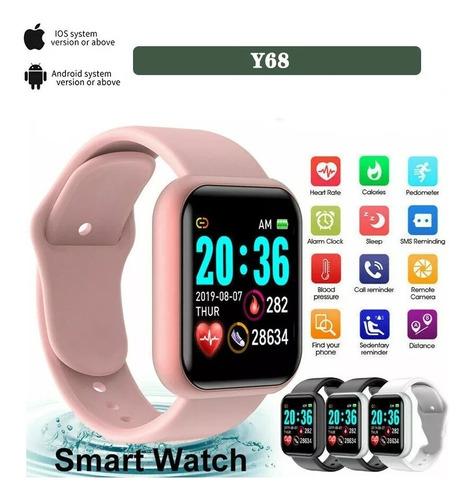 Imagem 1 de 5 de Relógio Y68 Smart Watch