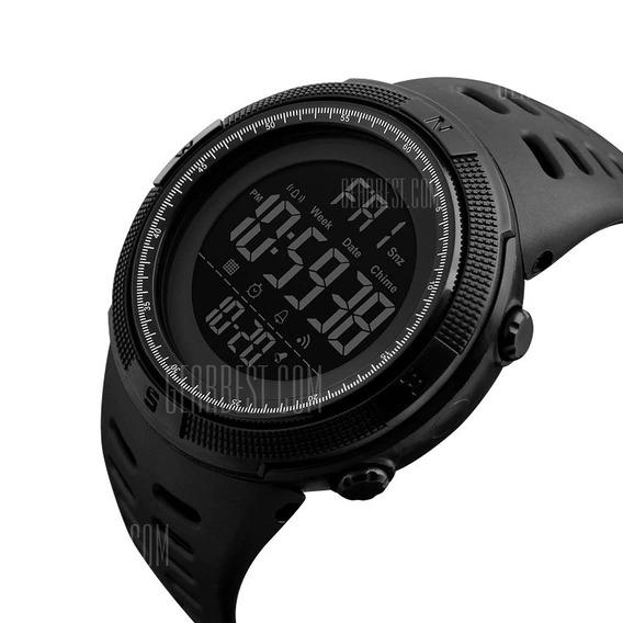 Relógio Esportivo De Led Skmei 1251 - Preto
