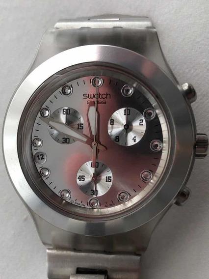 Relógio Swatch Aluminium Com Cristais