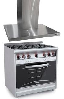 Combo Cocina Morelli Country 900 V + Campana Tst 90cm Nihuil