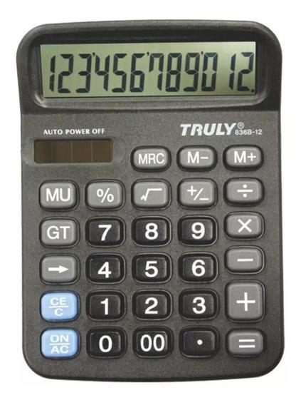Calculadora 12 Dígitos 836b-12 Truly