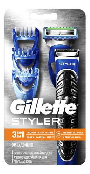 Gillette Styler 3en1 1 Máquina Para Afeitar + 1 Cartucho