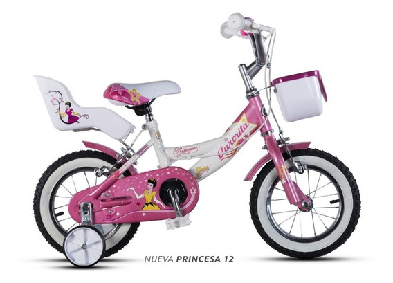 Bicicleta Bmx De Nena Aurora Princesa R12 Envío Gratis.