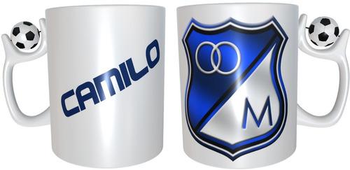 Mug Personalizado Con Tu Equipo De Futbol Colombiano