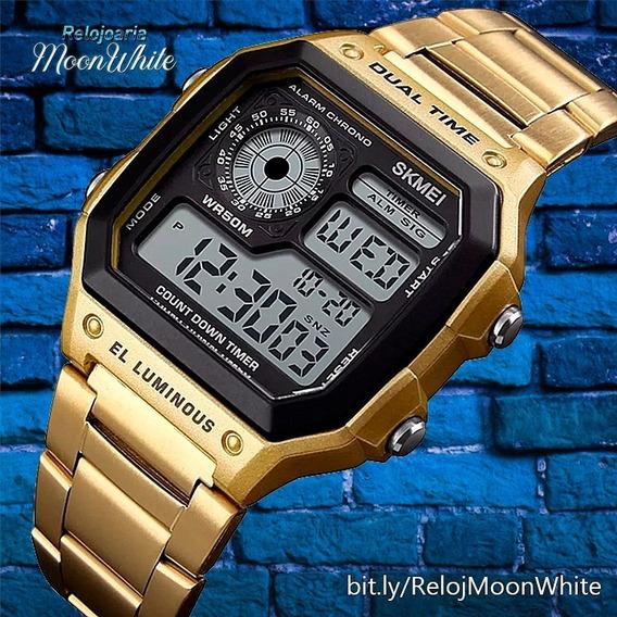 Relógio Masculino Skmei Esportivo Digital Gold Promoção