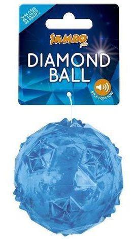 Imagem 1 de 3 de Brinquedo Bola Diamond Tpr Grande Azul Jambo Pet