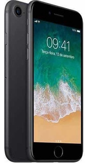 iPhone 7 Preto Matte 128gb+ Fones