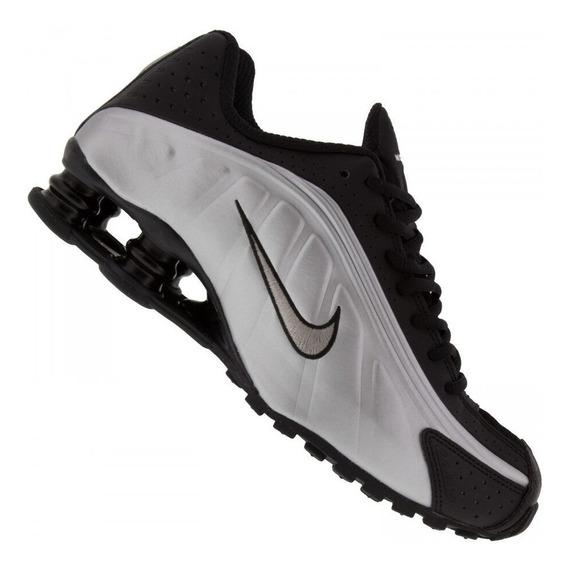 Tênis Masculino Nike Shox R4 Prata/preto 43 Original