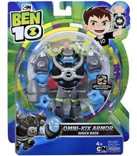 Figura Ben 10 Omni-kix Armor Shock Rock