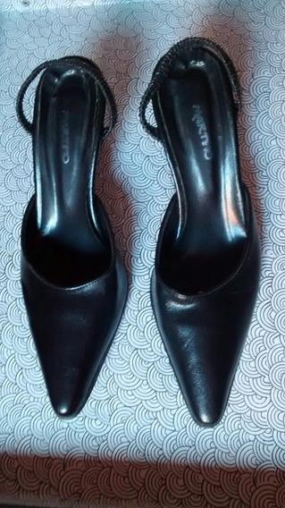 Zapato Mujer En Punta Con Elástico