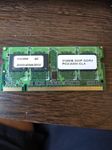 Imagem 1 de 2 de Memória 512mb P/ Notebook 2rx16 Pc2-4200s-444-12-a0