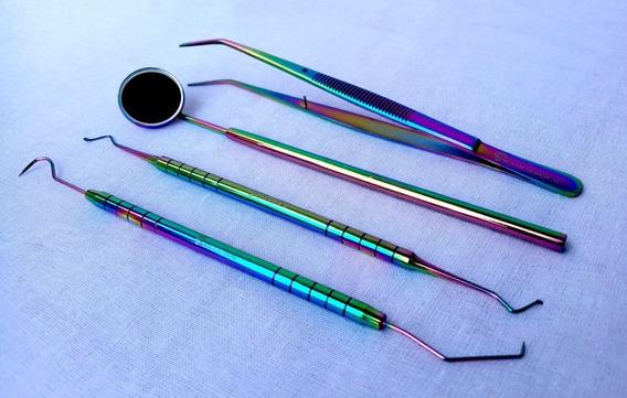 Kit Dental Basico Calidad Master Tornasol 100% Acero Aleman