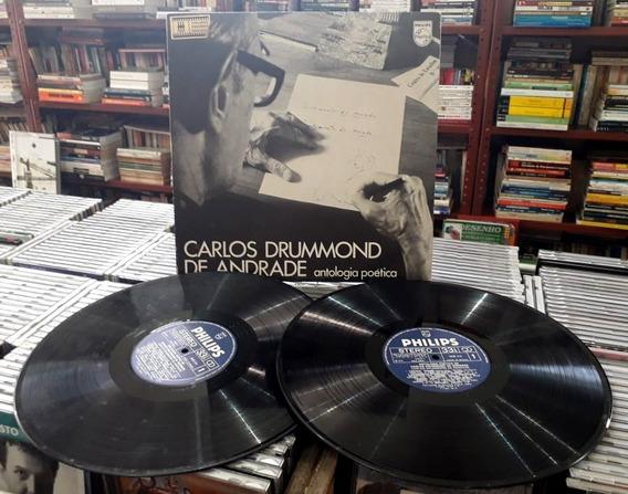 Vinil Duplo Carlos Drummond Andrade - Antologia Poética