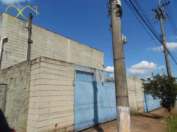 Barracão Para Alugar, 496 M² Por R$ 6.000,00/mês - Santa Terezinha - Paulínia/sp - Ba0024