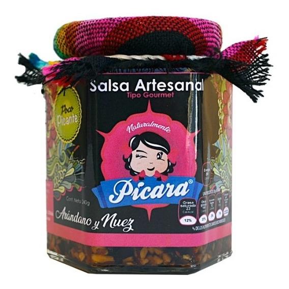 Salsa Artesanal Gourmet Arándano Y Nuez Poco Picante