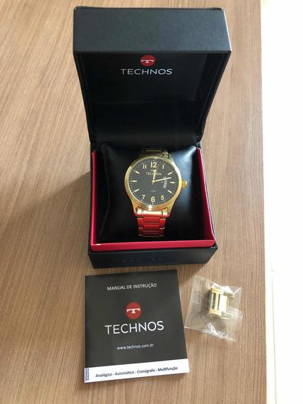 Relógio Technos Masculino Dourado Original