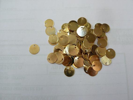 Monedas Dorados Caderines Diámetro 10 - X 100 Unid - Ml-704