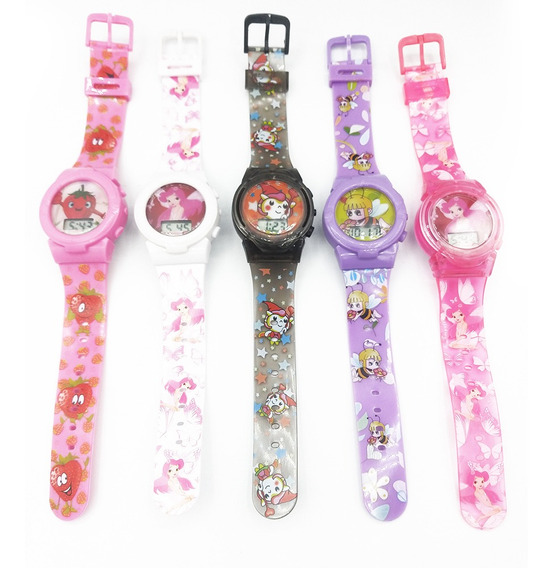 Relógio Infantil Personagens Digital Menina Kit C/05 Und