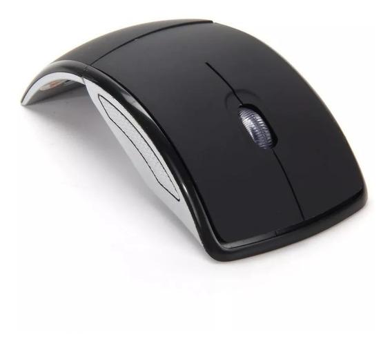 Mouse Arco Dobrável Sem Fio Wireless 2.4ghz + Brinde