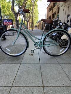 Bicicleta Paseo Khs Green 3 Mujer 3v Nexus Urbana Vintage