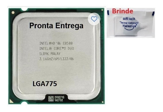 Processador 775 Core 2 Duo E8500 3,16ghz/6m/1333/86 + Pasta
