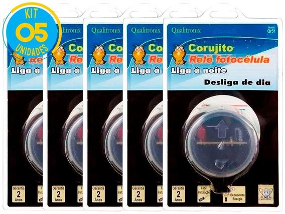 Relé Fotocélula Corujito Qr51 Qualitronix Kit 5 Unidades
