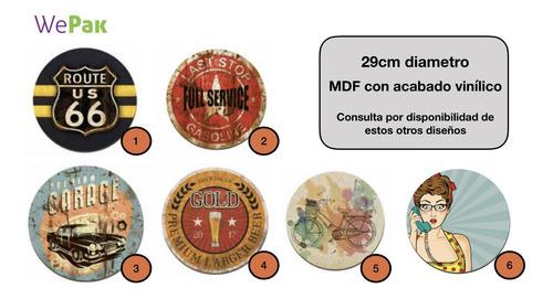 Imagen 1 de 8 de Placa Cuadro Decorativo Redondo 29cm -pack 3 Envio Gratis