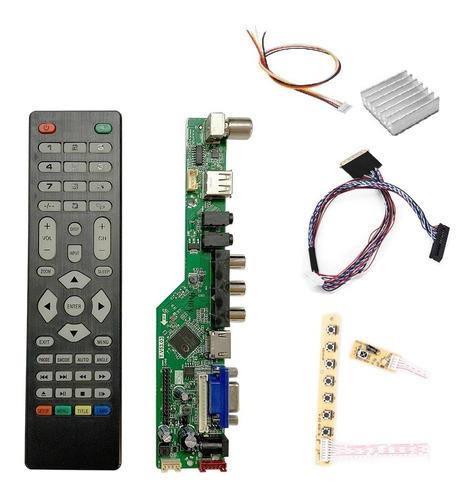 Placa De Tv Lcd Led Universal Controladora Analógica S/inver
