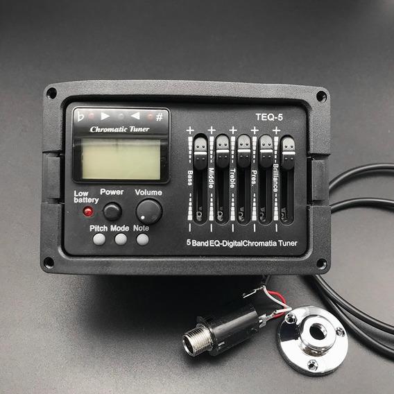 Captador Violão Tagima Teq-5 Afinador E Equalizador 5 Bandas