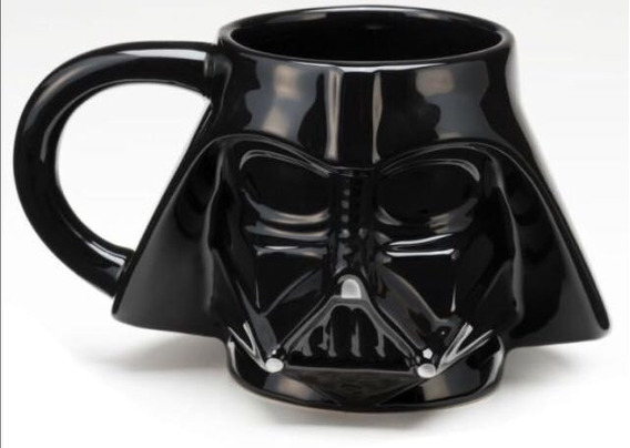 Caneca Darth Vader Star Wars Porcelana 3d Promoçâo