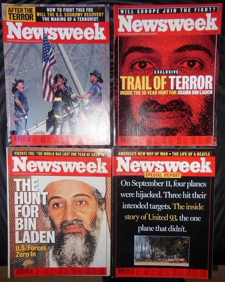 4 Revistas Newsweek 38 39 47 49 - Atentado 11 Setembro 2001