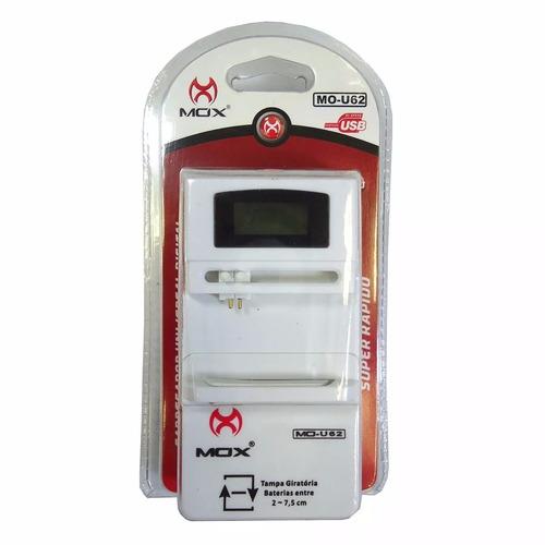 Imagem 1 de 1 de Carregador Bateria Celular Universal Digital Mo-u62 Mox U62
