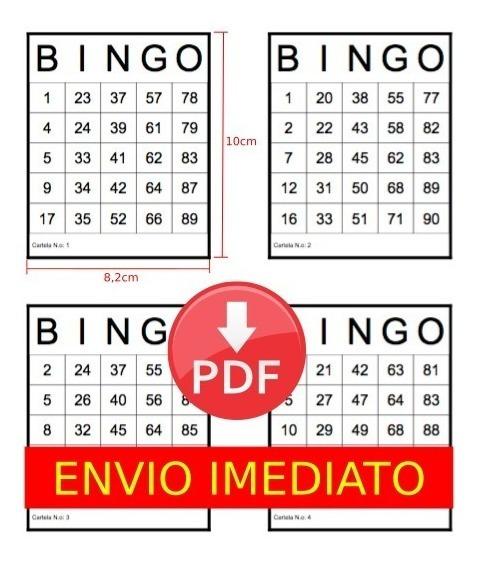 Imprimir Cartelas De Bingo - Download 1000 Cartelas