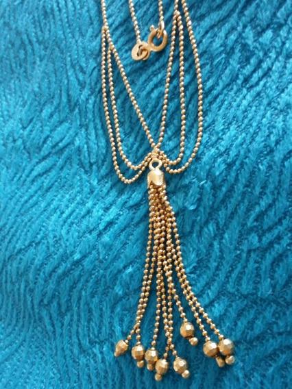 Colar Em Ouro 18k Medalhão Persa 5,20 Grs