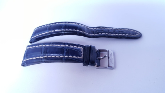 Pulseira Breitling Original Azul Royal 22mm Usada