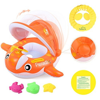 Peradix Baby Spring Pool Flotador Con Toldo Sombrilla Whale